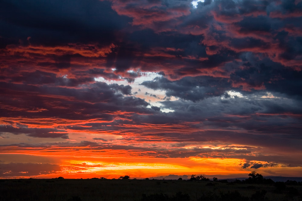K102 Masai Mara, Abendhimmel / evening sky