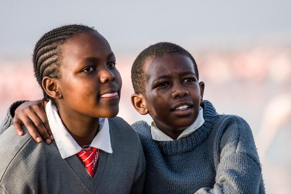 K143 Lake Nakuru, Schulkinder / schoolchildren
